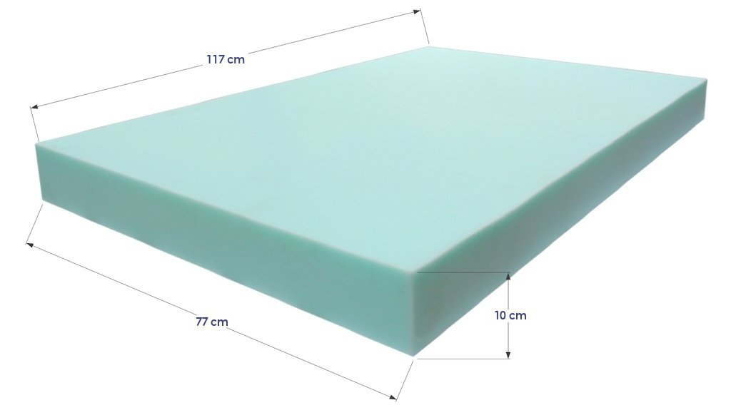Colch n de espuma para palet 120 x 80 cm for Espuma a medida para palets