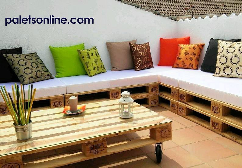 chill out de palets - Terraza Con Palets