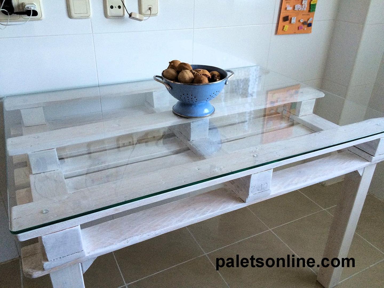 Cristal vidrio templado para mesa palet 120 x 80 cm for Mesa comedor cristal 120 x 80