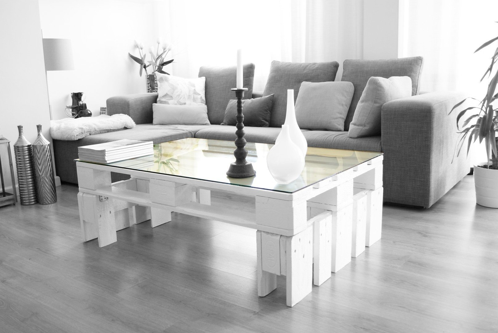 Cristal vidrio templado para mesa palet 120 x 80 cm for Mesa cristal 4 personas
