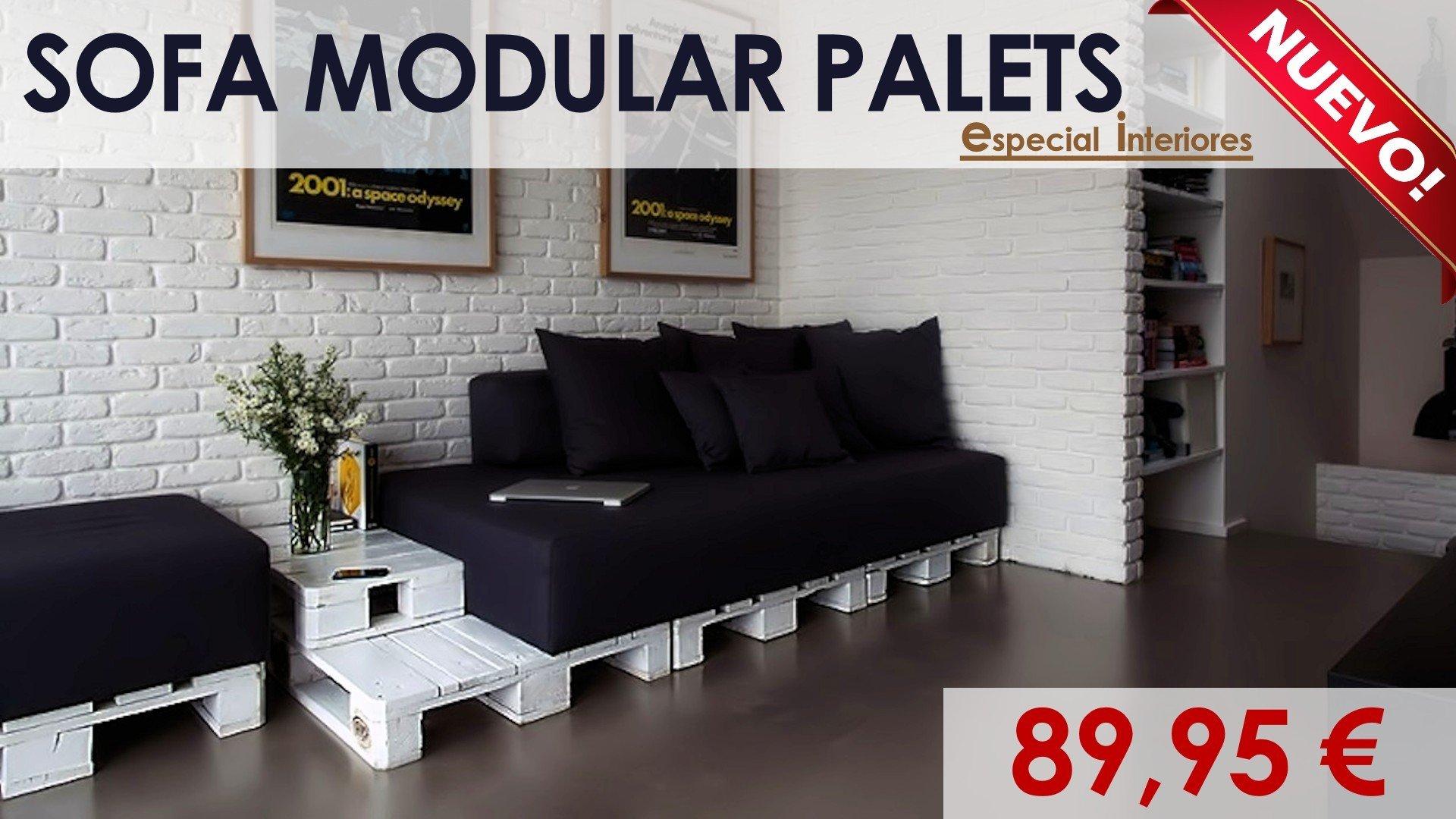 Sof modular interior blanco de palets for Sofas al mejor precio