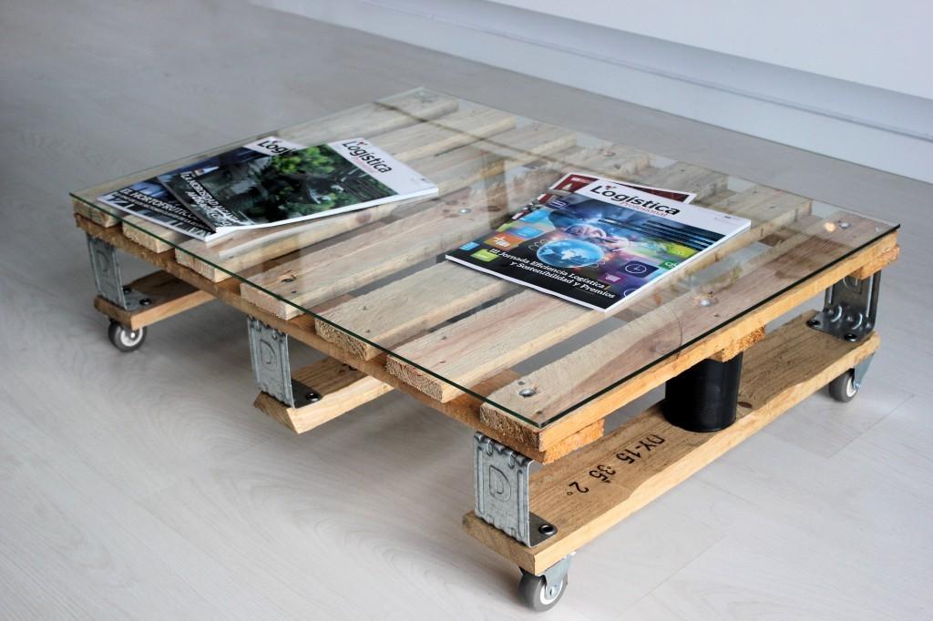 Mesa de centro palet 80x60 cm - Mesas de palet ...