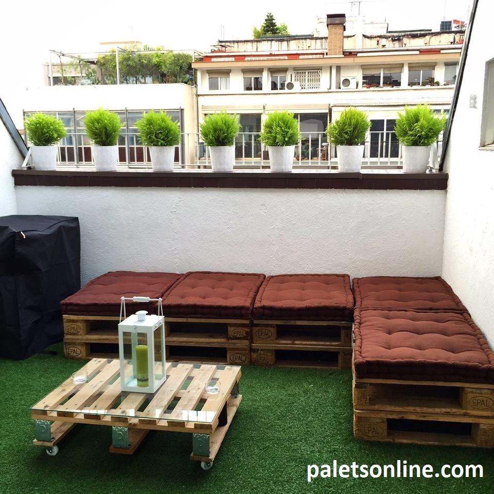 Mesa de centro palet 80x60 cm for Muebles terraza palets