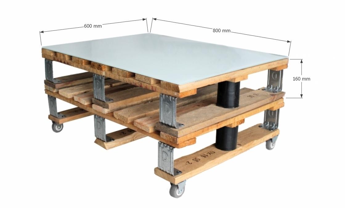 Mesa de centro doble palet vintage industrial d sseldorf - Mesa centro palet ...