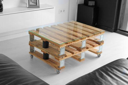 mesa de centro doble palet vintage industrial dsseldorf