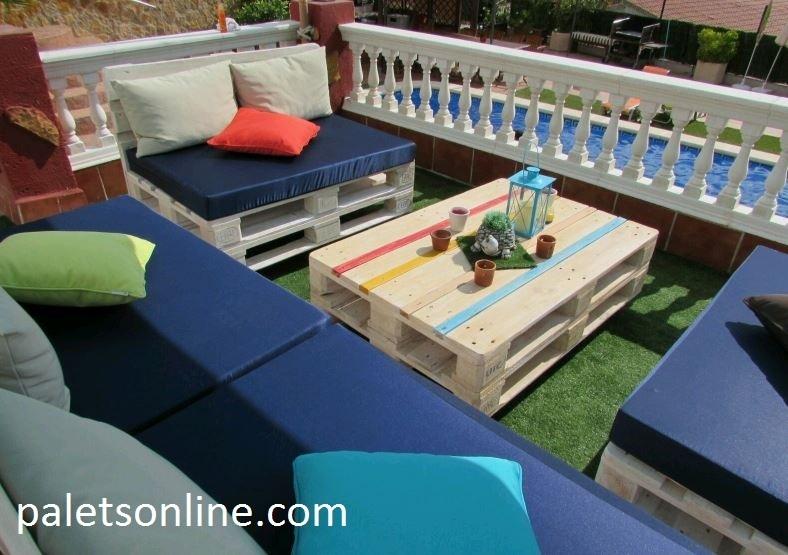 Colchoneta azul europalet para palets 120 x 80 - Colchonetas para sillones ...