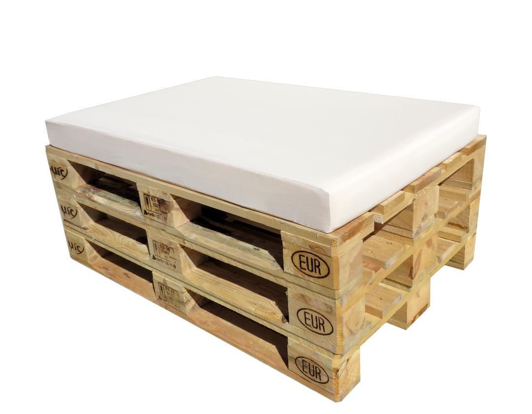 Colchoneta blanca europalet para palets 120 x 80 - Colchones para palets ...