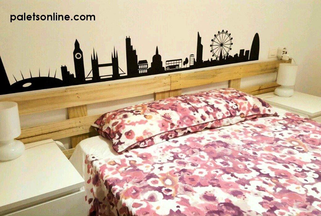 Cabecero de cama de Madera Cepillada