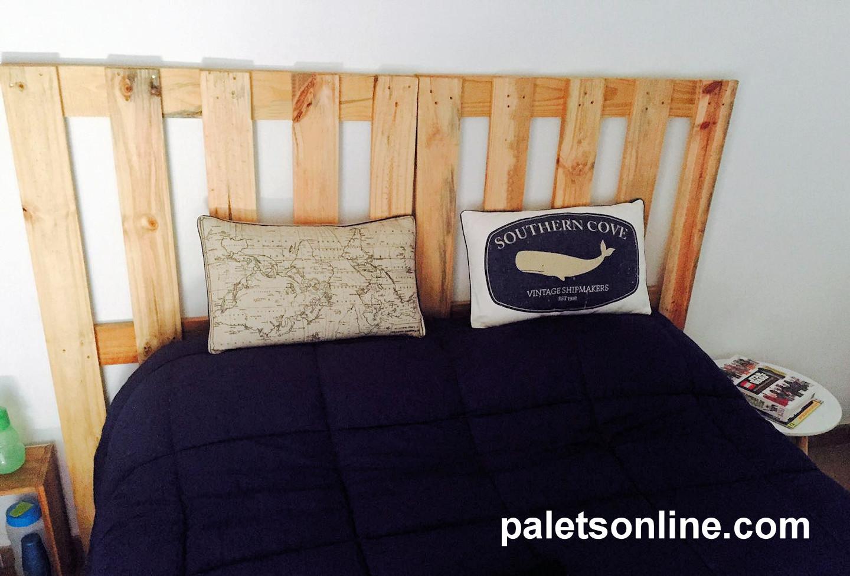 cabecero de cama madera cepillada