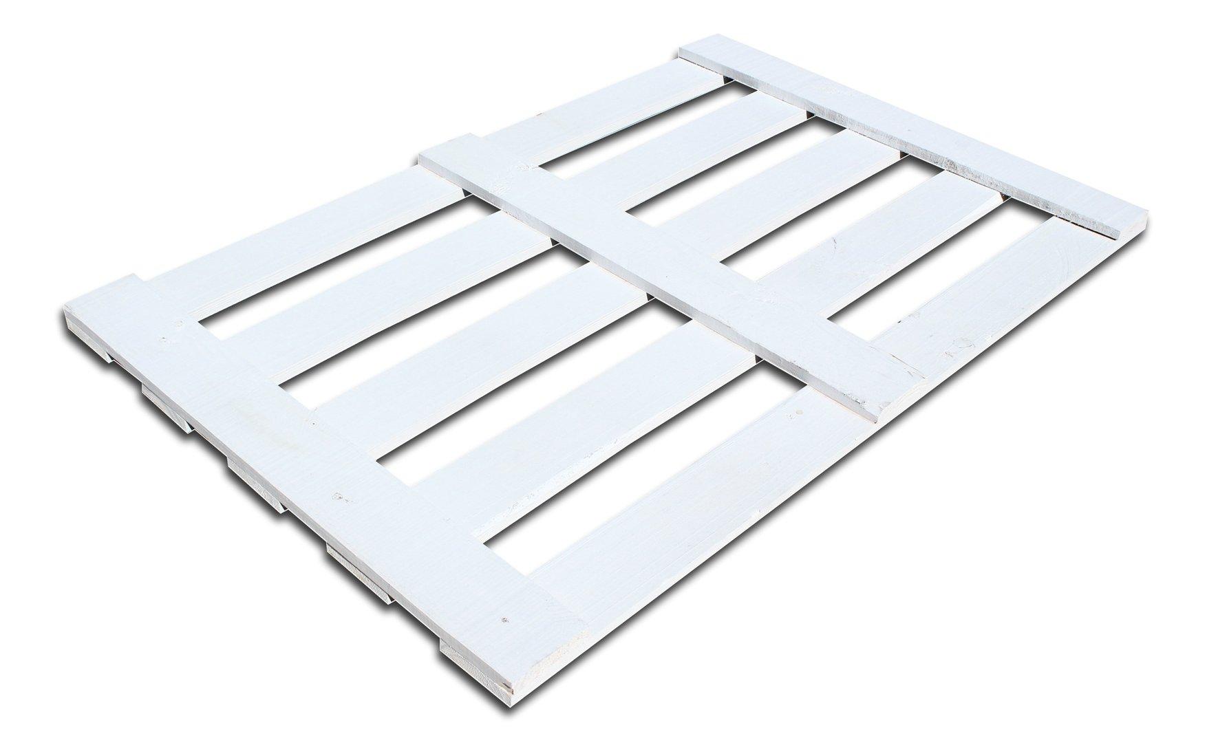 Cabecero de cama de palet color blanco - Colchones para palets ...