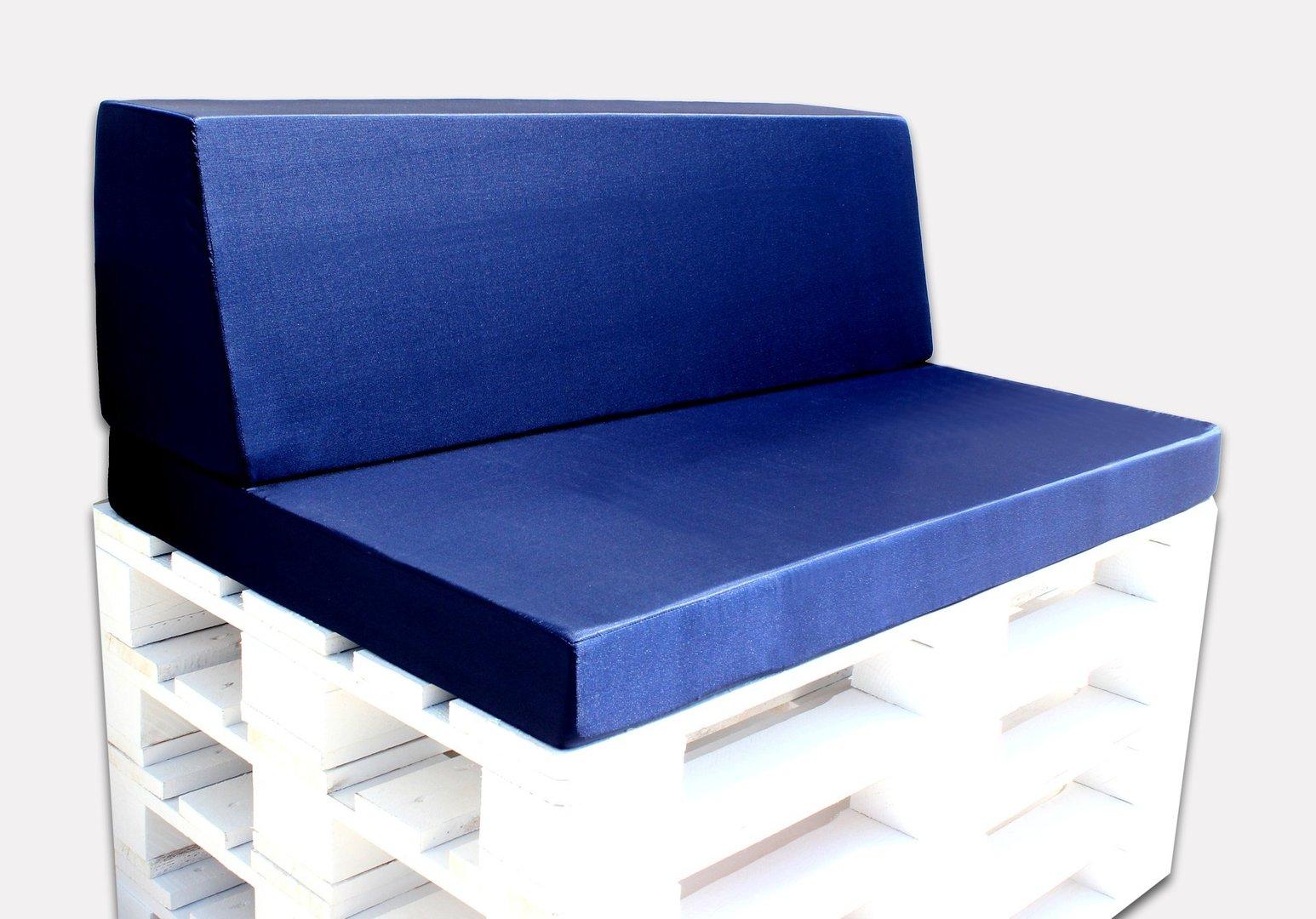 conjunto de 1 asiento y 1 respaldo para palets europalet 120 x 80 azul navy - Asientos Con Palets